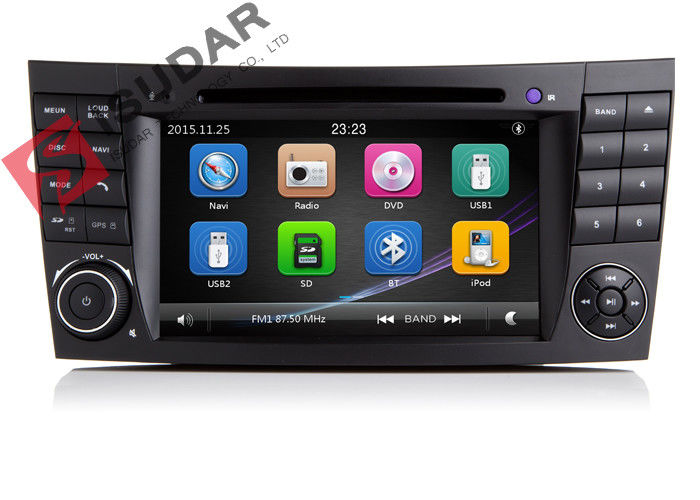 Auto Radio Double Din Gps Car Stereo , Mercedes E Class Dvd Player Built In SD Port